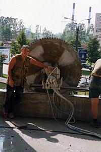 Алмазная резка настенными плитами