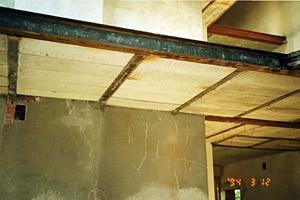 Реконструкция зданий, усиление перекрытий